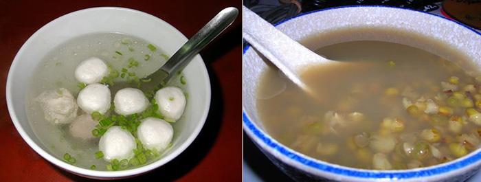 На фото: китайский суп