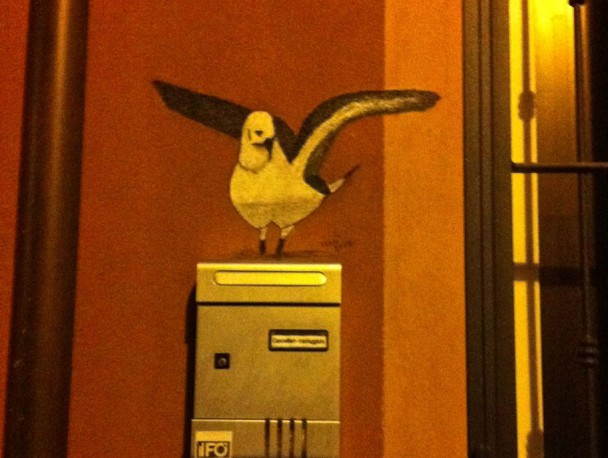 Чайка на почтовом ящике, Римини