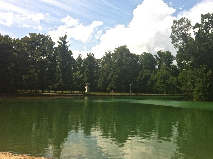 озеро в герцогском парке