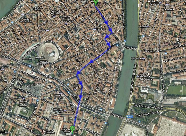 На фото: схема маршрута от