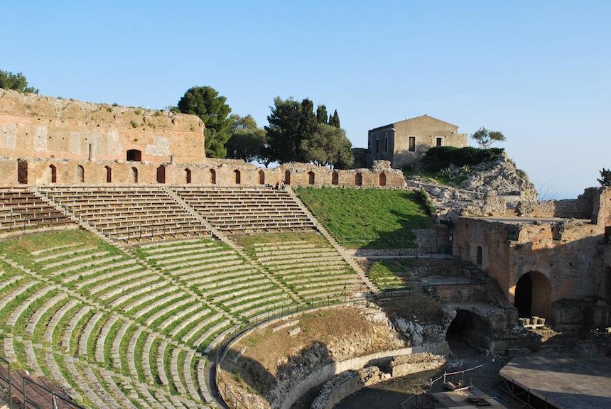 Таормина, Сицилия, греческий амфитеатр