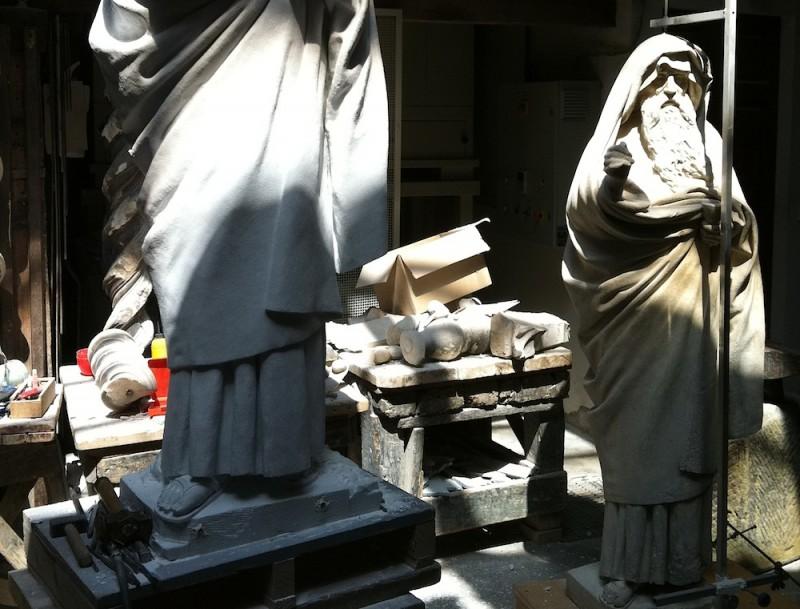 мастерская, где создают копии скульптур для Санта-Мария-дель-Фиоре.