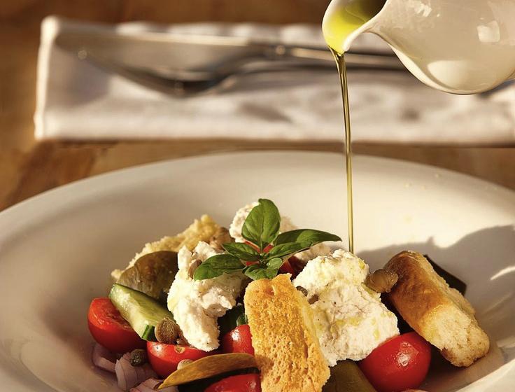 греческий салат и масло