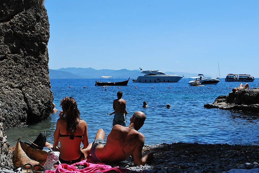 общественный пляж Портофино