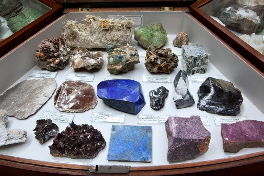 минералы в музее Тайлера