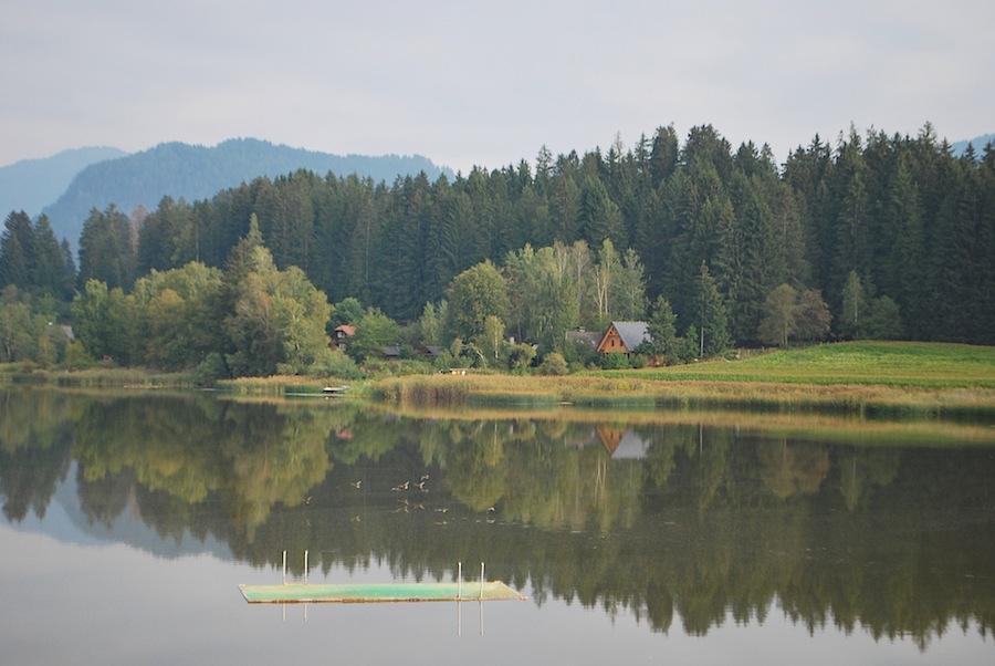 Домик на берегу озера Фуртнертайх