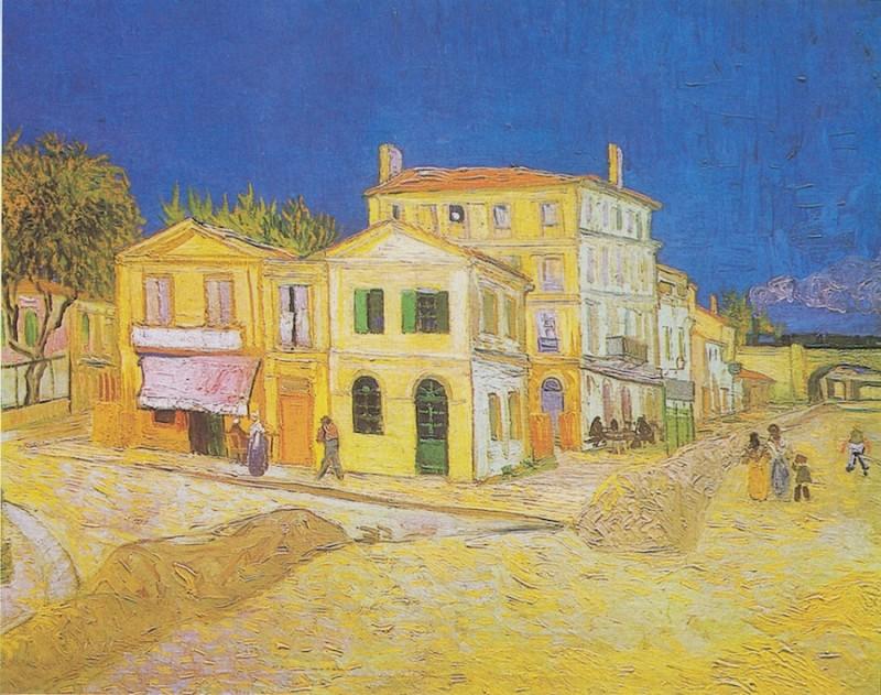 "Картина ""Желтый дом"" Ван Гога, 1888 год"