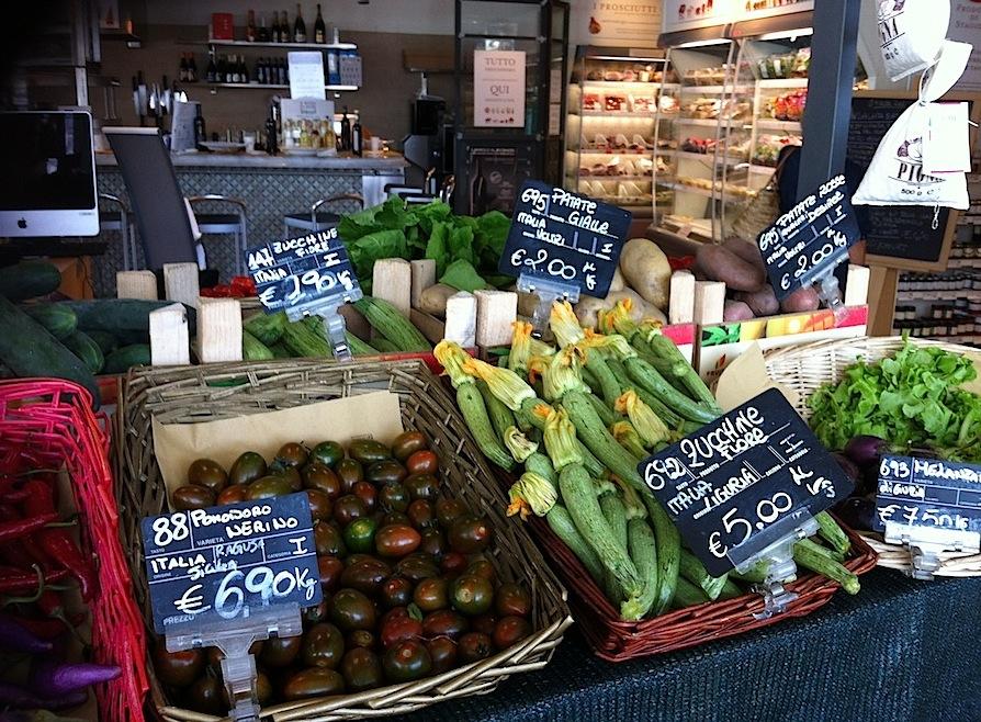 овощи в магазине Лигурии