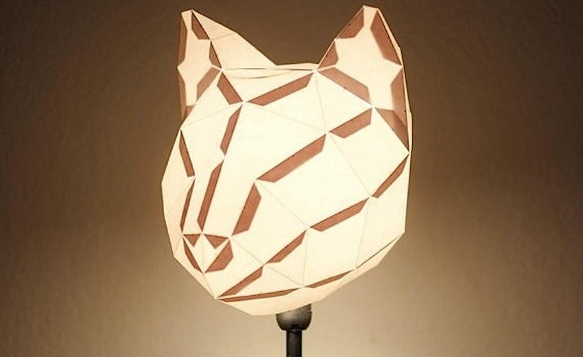 светильник в виде головы кота