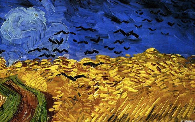"""Пшеничное поле с воронами"""", Винсент Ван Гог, 1890 год"""