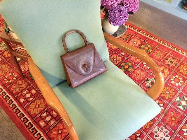 винтажная сумочка Gucci с бамбуковой ручкой