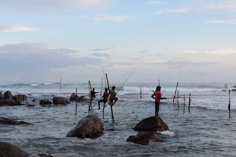 рыбаки на Шри-Ланке