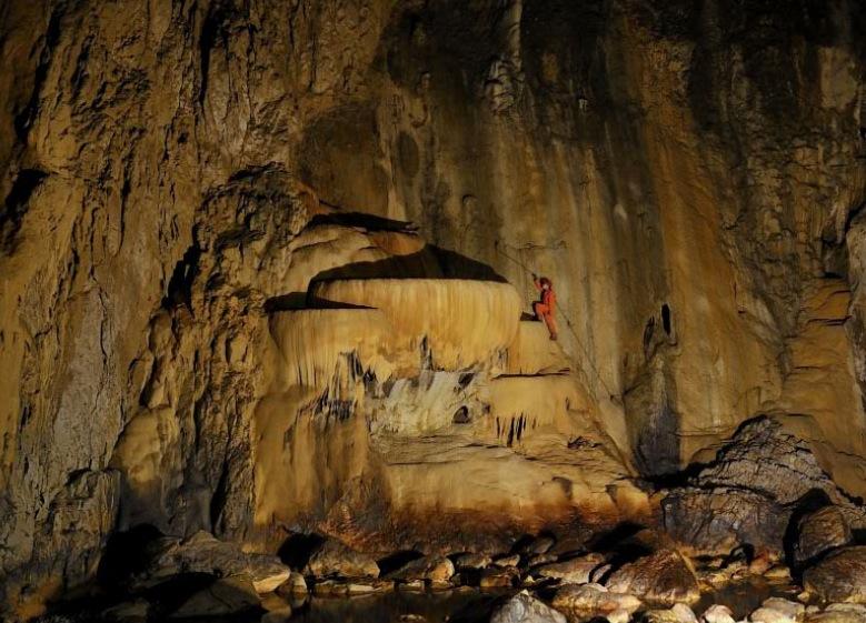 в Шкоцянских пещерах