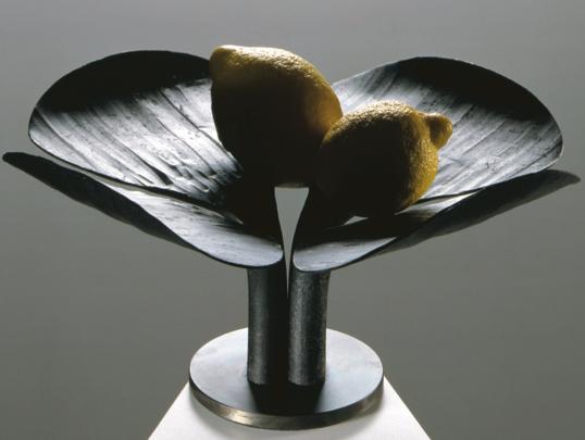 металлическая ваза, созданная Энцо Мари