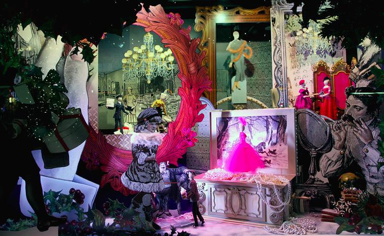 рождественская витрина Lord&Taylor