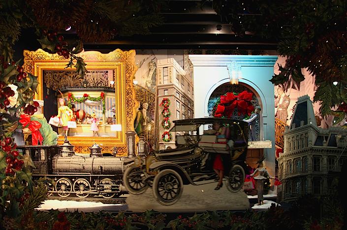 рождественская витрина Lord & Taylor