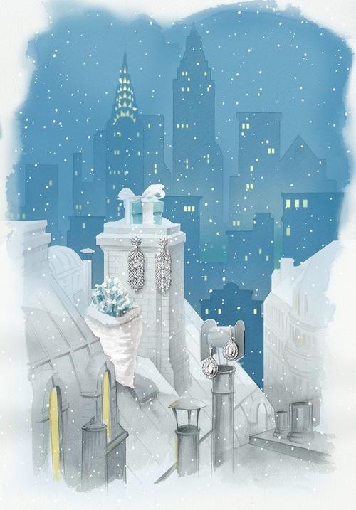 рождественские витрины Tiffany&Co