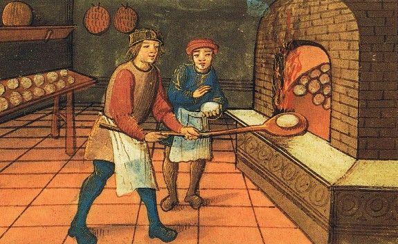 пекари, средневековая гравюра
