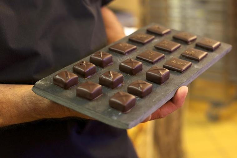 шоколадные конфеты в кафе Confiserie Poyet