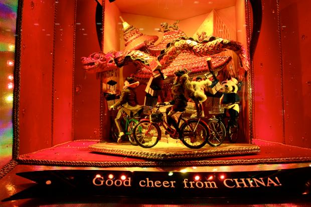 витрина Bloomingdale's, посвященная Китаю