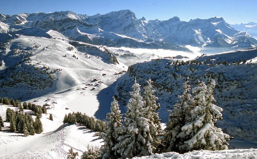 швейцарские Альпы зимой