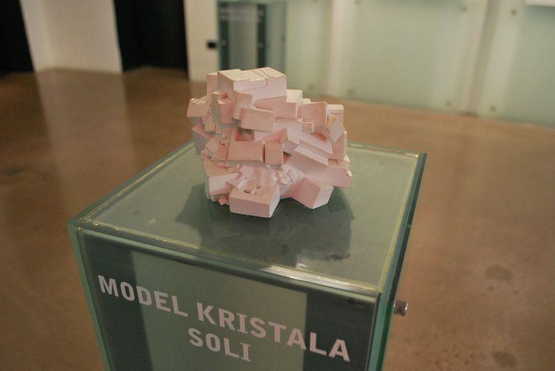 макет кристалла соли