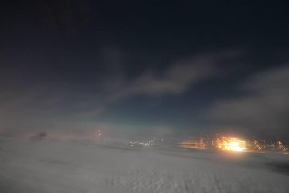 северное сияние никак не хотело разгораться