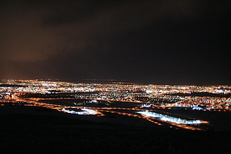 панорама ночного Рейкьявика
