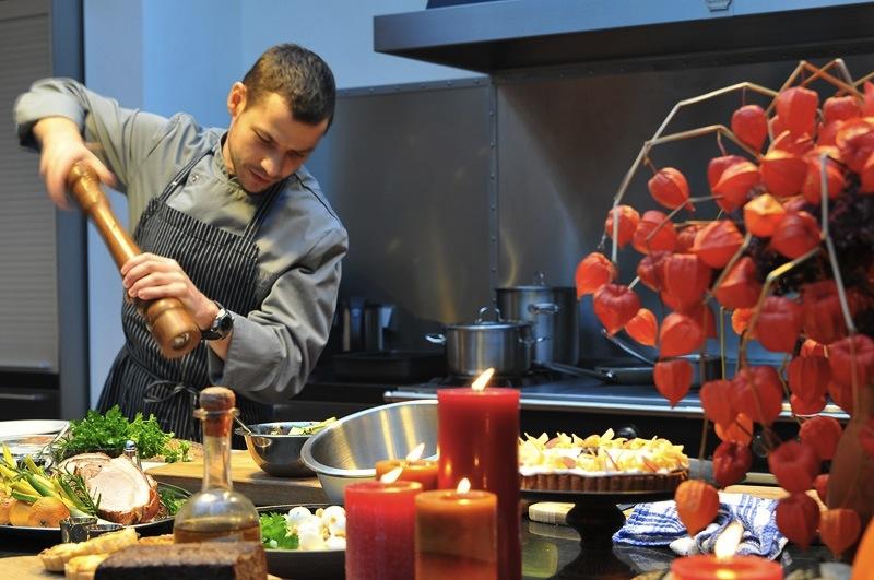 приготовление ужина в Rumene