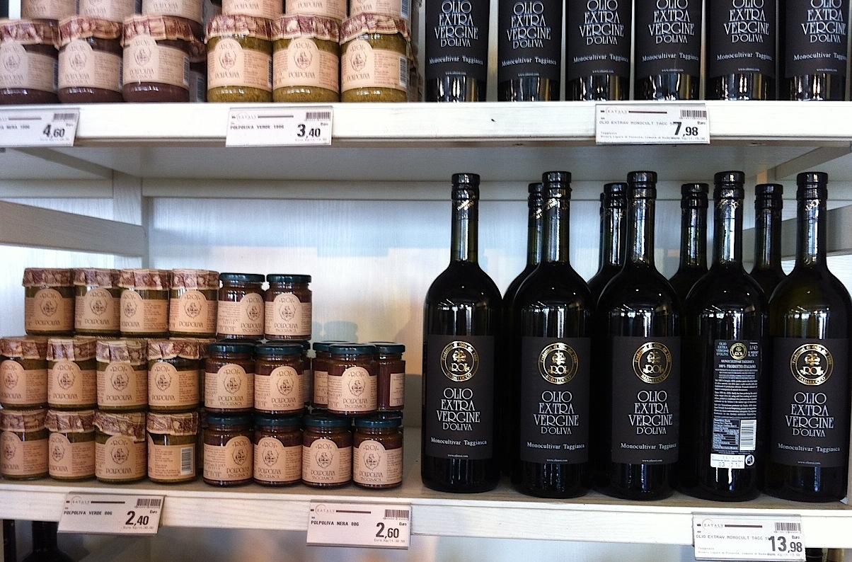 оливковое масло и тапенада в Eataly