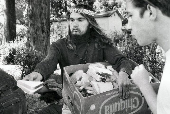 архивный кадр, лето любви в Сан-Франциско, 1967 год