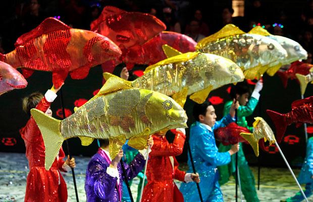 новогодний парад в Гонконге