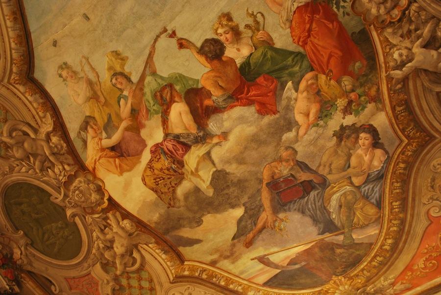 роспись потолка в салоне Марко Поло