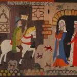 Старинный гобелен в крепости Хяме