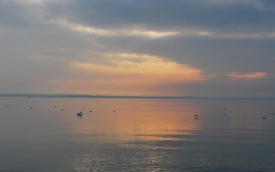 озеро Гарда на закате