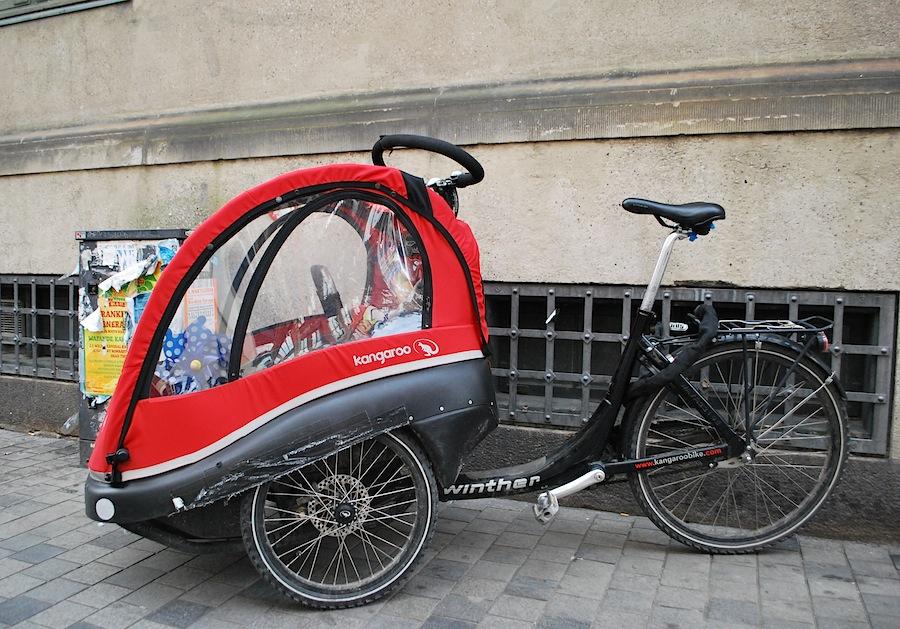 велосипед с закрытой коляской