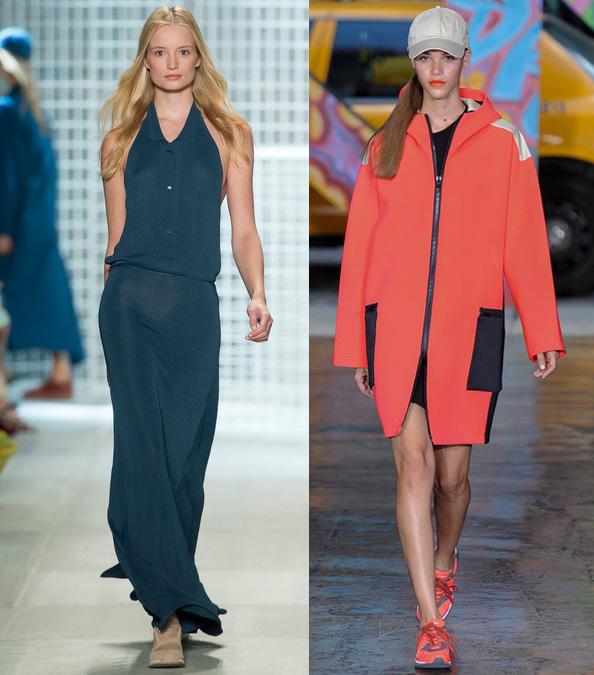 кроссовки на показах Lacoste и DKNY