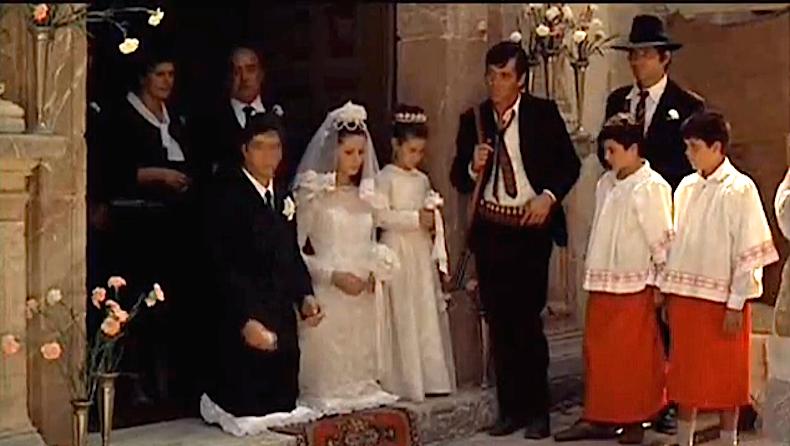 венчание Майкла Корлеоне и Аполлонии на пороге церкви Санта-Лучия.