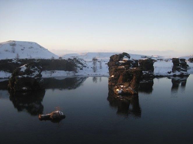озеро Mývatn