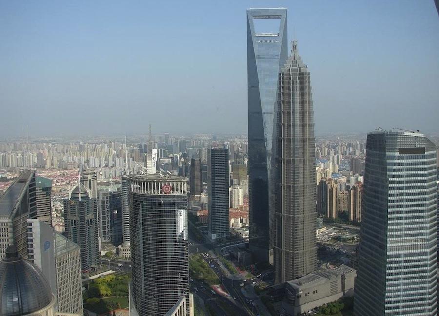 вид с телебашни, Шанхай