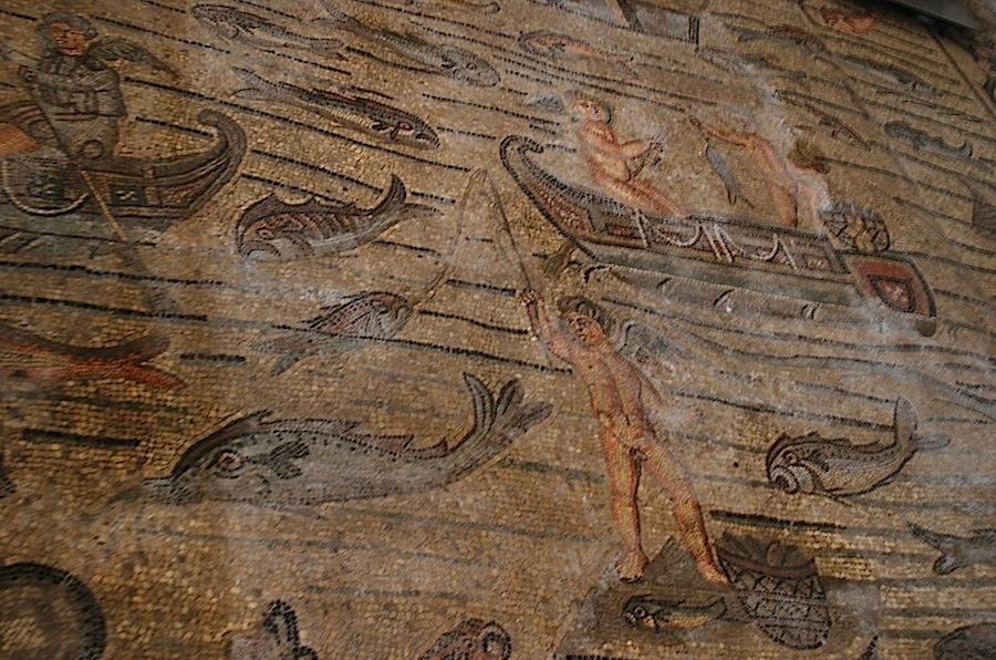 рыбы и рыбаки, мозаики Аквилеи