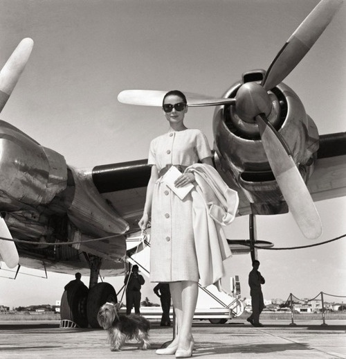 Audrey Hepburn departs from Rome's Ciampino Airport, June 16, 1958.