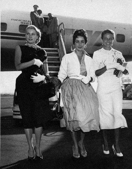 Elizabeth Taylor with Grace Kelly and Lorraine Day.