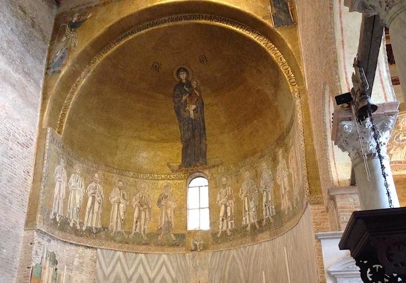 византийская мозаика с изображением Девы Марии