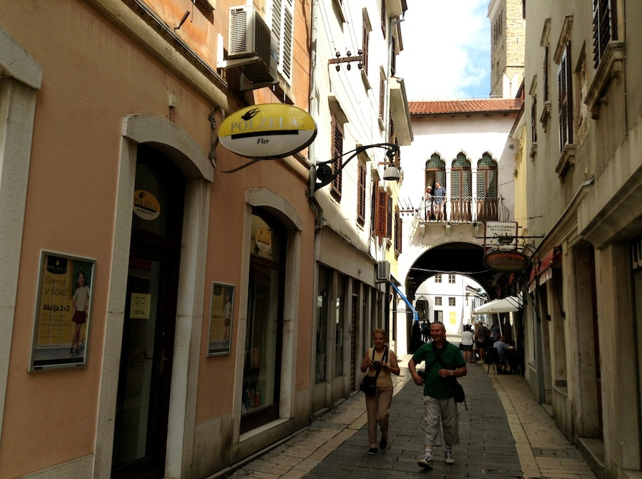 улочка Копера, Словения