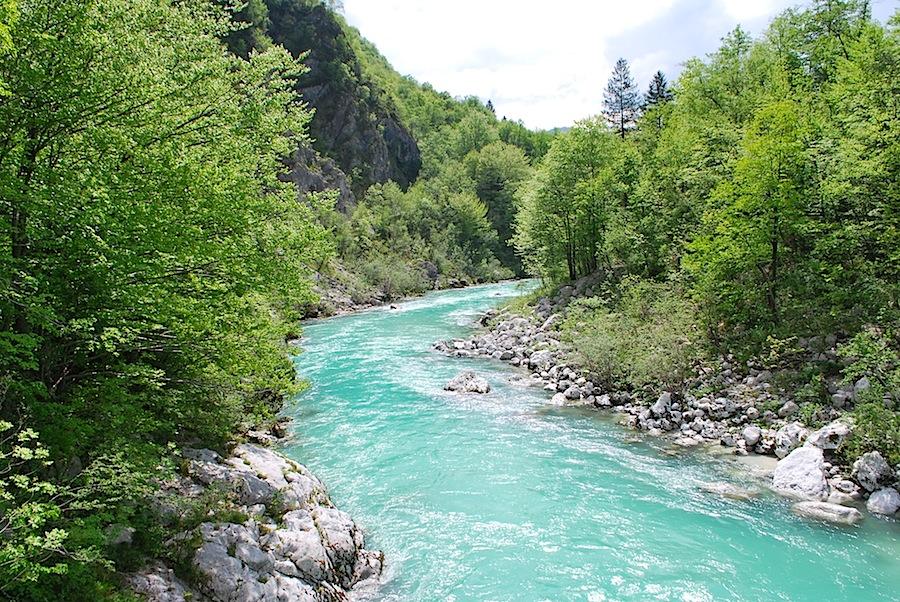 Изумрудная река Соча, Словения