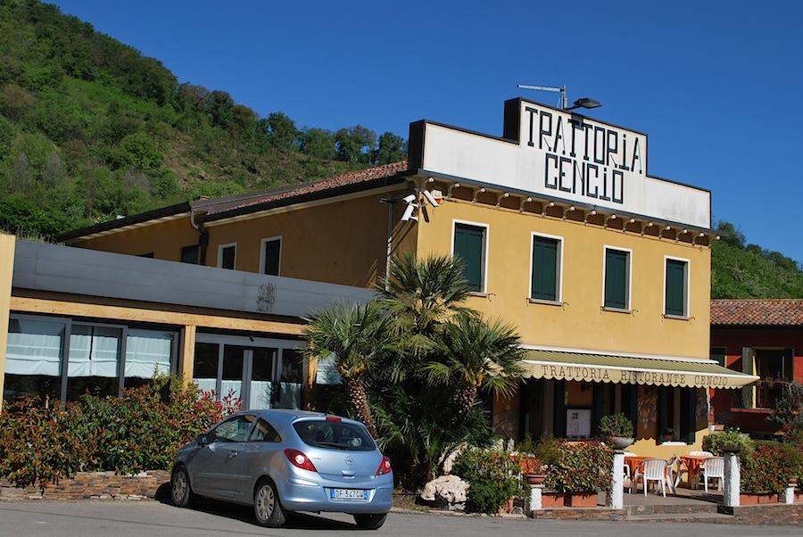 ресторан Cencio на Эуганских холмах