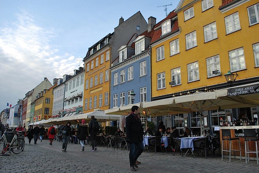 рестораны в Новом порту Копенгагена (Nyhavn)