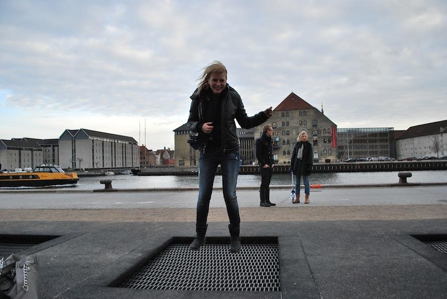 сетки для прыжков на набережной Havnepromenade, Копенгаген