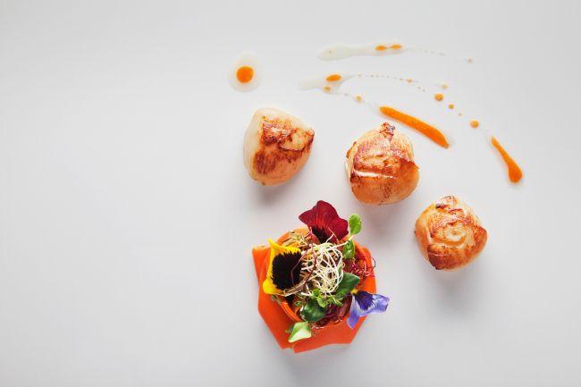 Морские гребешки в оливковом масле в ресторане Arzak